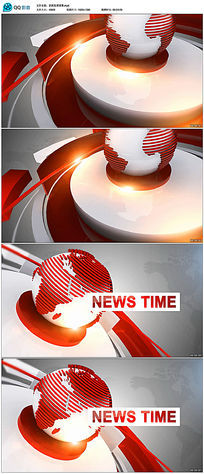 地球新闻动态背景视频