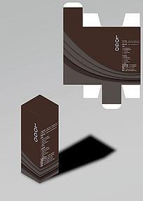 弧形层叠设计包装盒