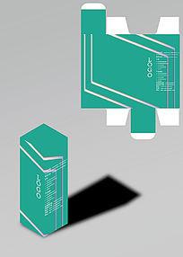 科技感青灰包装盒