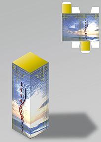 框架花纹设计包装盒
