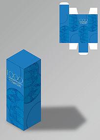蓝色时尚护肤品包装盒
