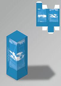 蓝天图案工艺品包装盒