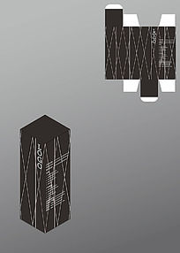 凌乱风格线条设计包装盒