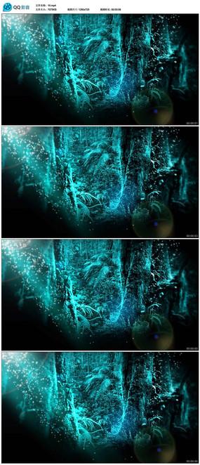 魔法森林童话背景视频