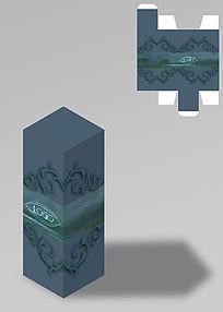 欧式花纹古典包装盒