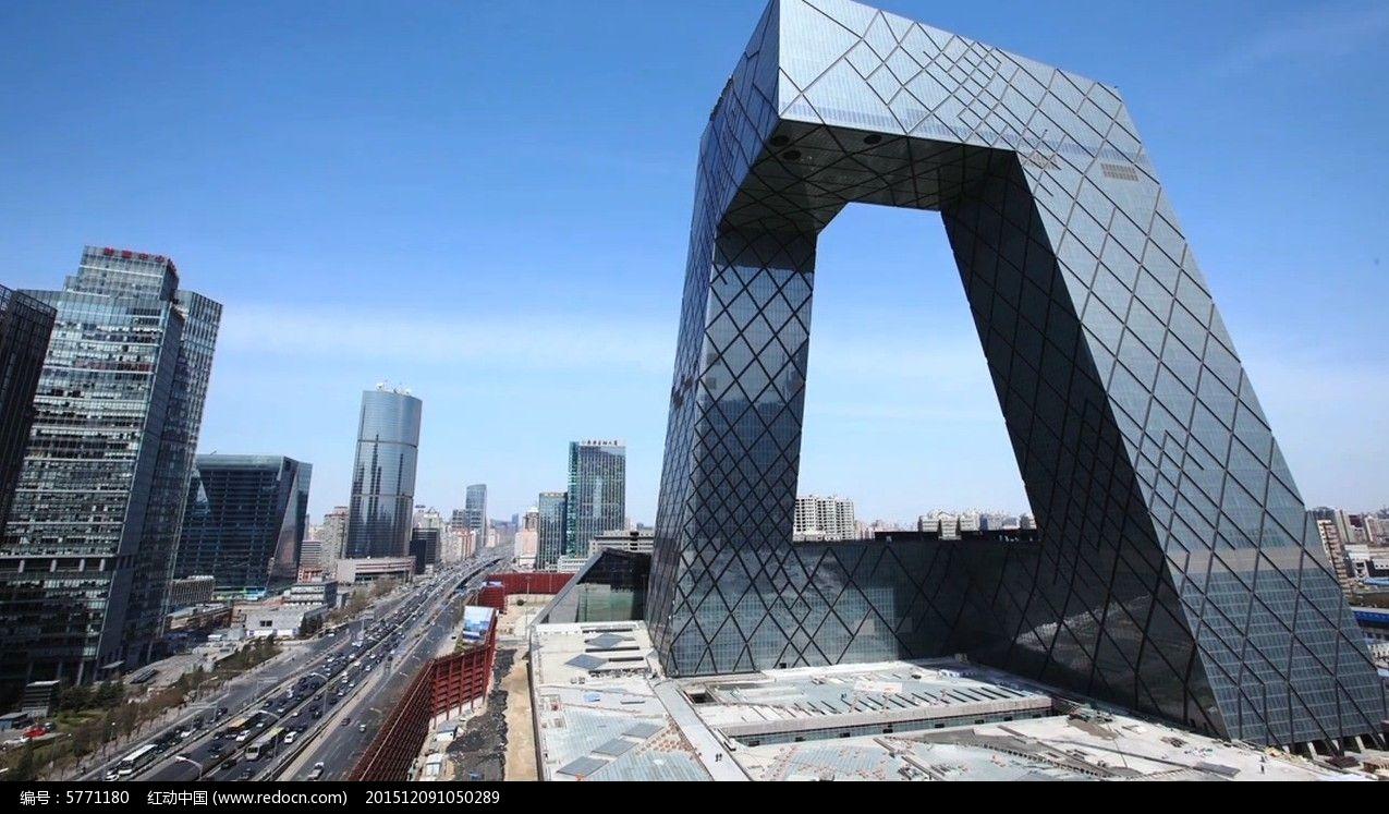 北京大裤衩实拍素材