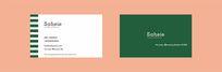 绿色边线简约名片