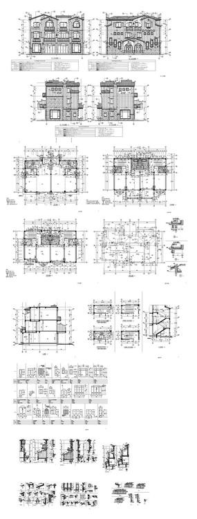 别墅建筑设计CAD图纸 dwg