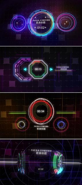 电子音乐均衡音谱动态背景ae模板