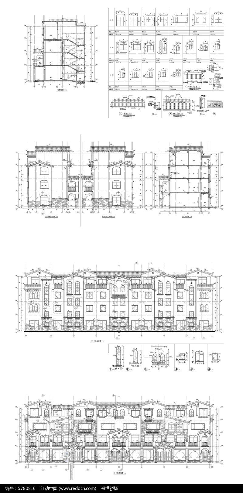 图纸马车建筑CAD别墅dwg素材下载_豪宅CAD住宅唐朝CAD图片