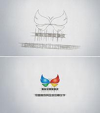 素描logo图标展示片头ae模板