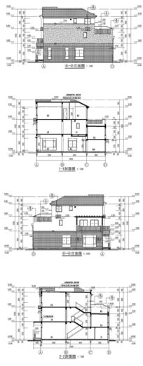 别墅庭院建筑设计CAD图