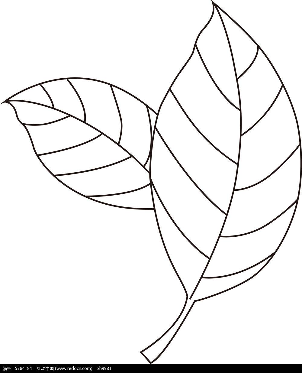 茶叶子手绘矢量图片