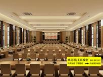 大型会议室3D模型