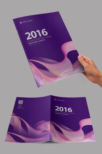 粉紫色舞动花纹设计封面