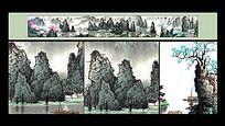 桂林山水天下美长卷山水画