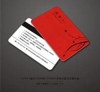 红色精品VIP卡设计