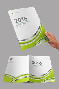 简洁绿色环保设计封面