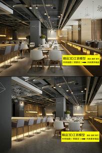 时尚西餐厅大堂3D模型