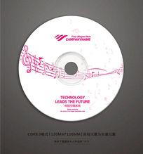 音乐歌曲光盘贴纸设计