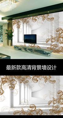梦幻抽象花朵花纹时尚电视背景墙