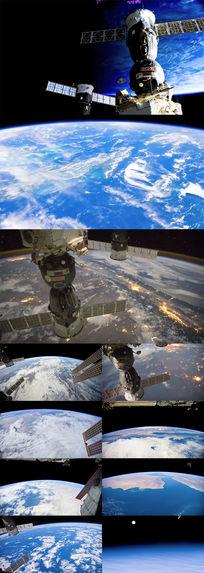 太空中观赏地球实拍素材