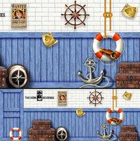 地中海风格航海元素地中海风格室内背景墙