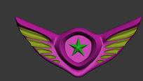 徽章3d模型设计立体