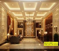 酒店大堂3D效果图模型