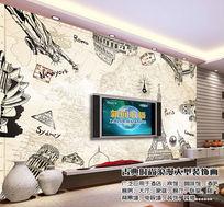 世界建筑电视背景