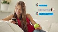手机发短信文字信息对话气泡效果聊天模板