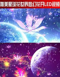 唯美星球花世界梦幻花开LED视频