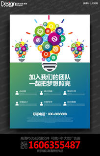 创意设计公司招聘宣传海报设计
