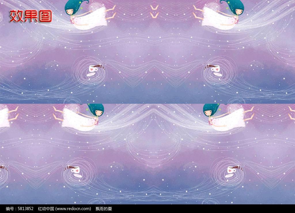 梦幻小天使高清背景视频