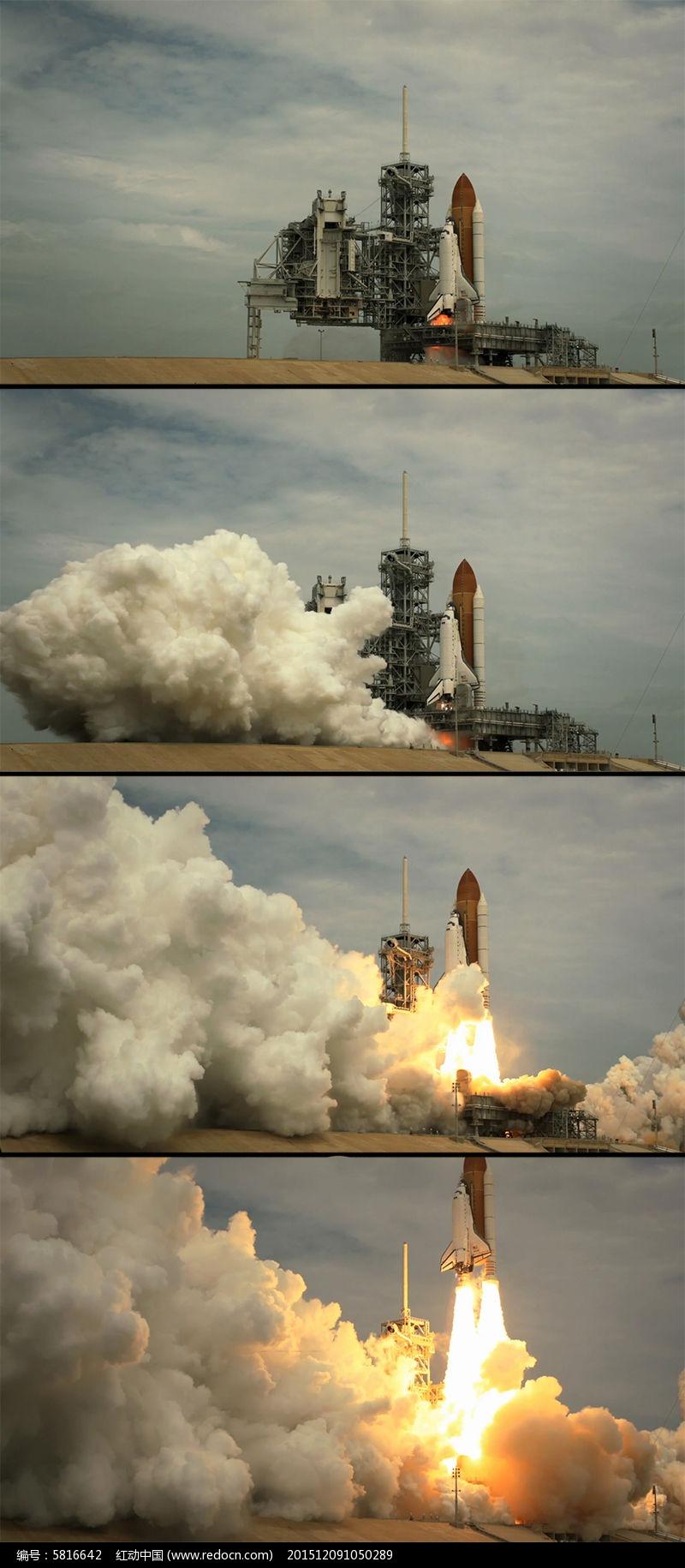 运载火箭发射塔航天飞机点火升空图片
