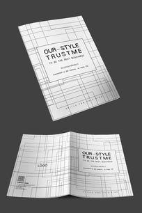 白色简约高端企业封面设计