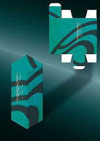 抽象花纹化妆品包装盒模板
