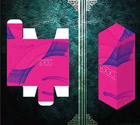 粉红别致化妆品包装盒