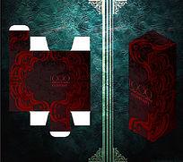 红黑大气花纹包装盒