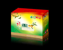 绿色水果大枣包装纸箱设计