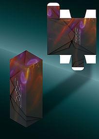 魔幻感大气高档包装盒模板