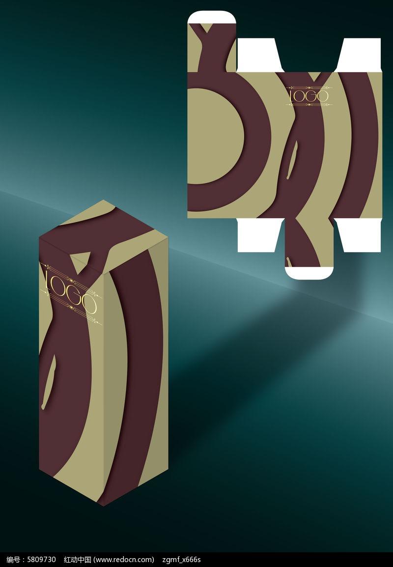 欧式简约时尚包装盒模板