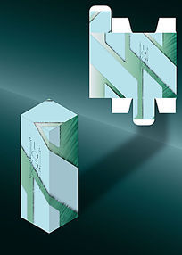 斜纹科技感电子产品包装盒模板
