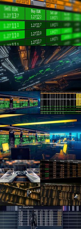 3D动画展示世界货币交易数据世界