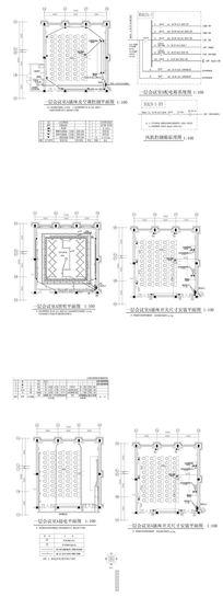酒店会议室CAD平面图