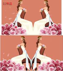 卡通新娘浪漫高清背景视频