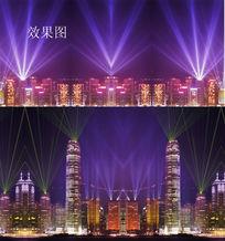 香港都市夜景动态视频片头片尾
