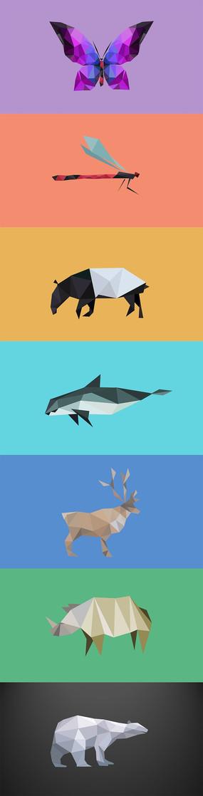 像素变体可爱小动物像素化风格变体动画ppt