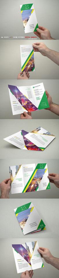 高端大气企业三折页模板