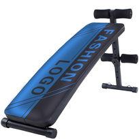 蓝色创意健身腹肌板图案设计